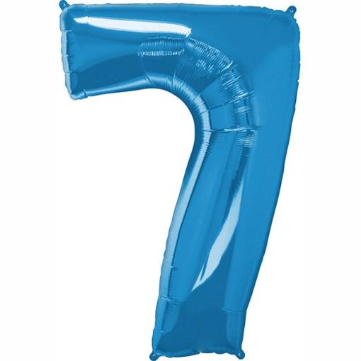Folie Zahl 7 blau