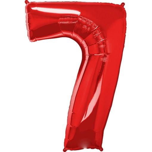 Folie Zahl 7 rot