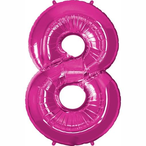 Folie Zahl 8 pink