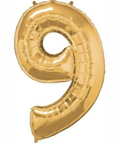 Folie Zahl 9 gold