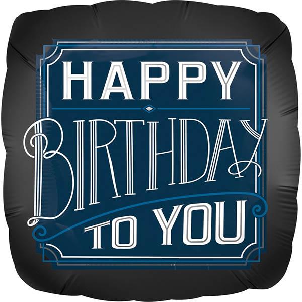 Happy Birthday Art Deco 45cm