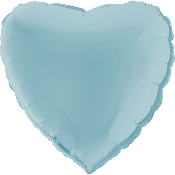 Hellblauer Folienballon in Herzform