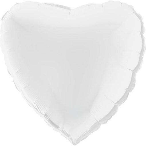 Herz Folienballon 56cm Weiss