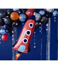 Folienballon Rakete, 44x115cm Dekobeispiel
