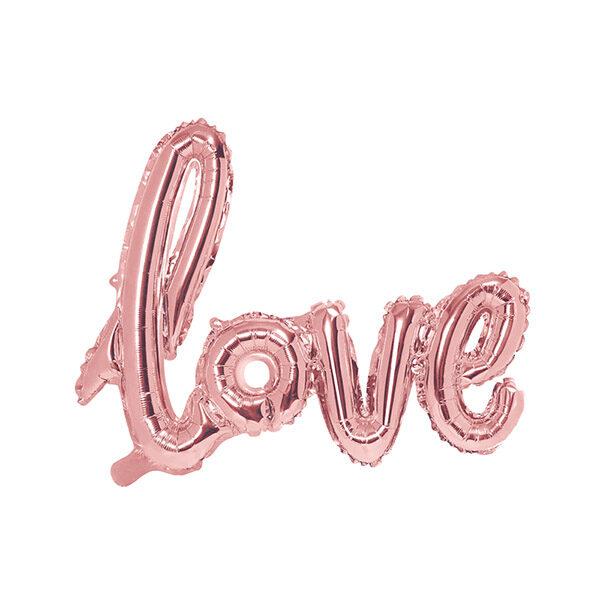Folienballon Schriftzug Love, 73x59cm, rose gold