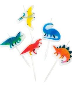 Geburstagskerzen Dinosaurier Set, 5 Dinokerzen