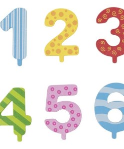 Bunte Zahlen 1 bis 6 zum Geburtstagszug