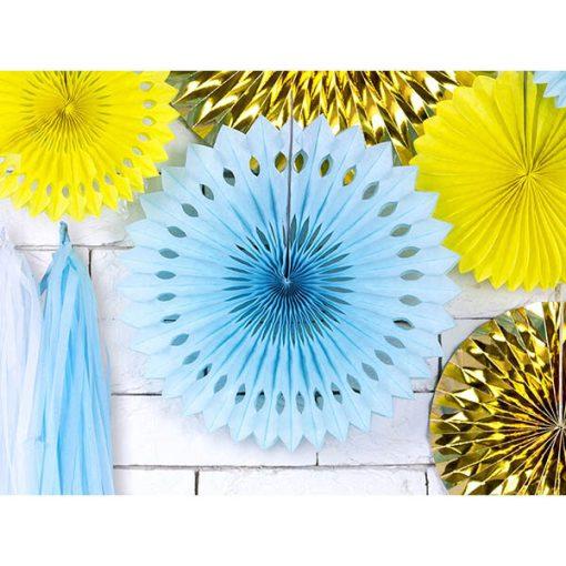 Dekofächer mit Lochmuster, light sky-blue, 3er Pack, versch. Größen Dekobeispiel