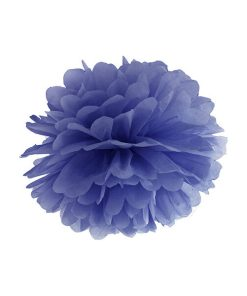 Pompom, Seidenpapier, navy blue, 25cm