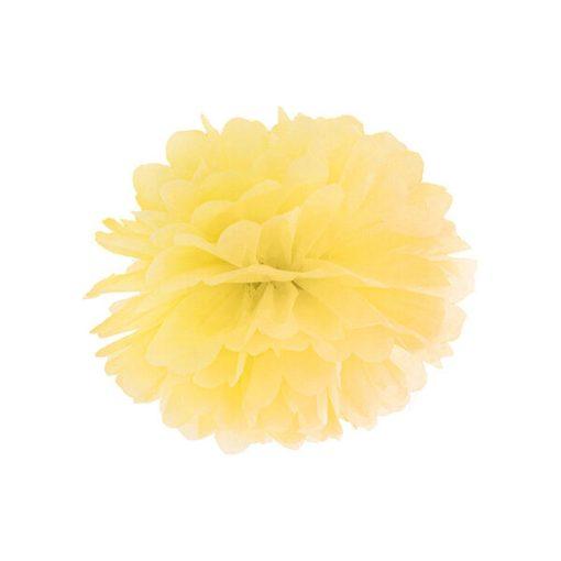 Pompom, Seidenpapier, yellow, 25cm