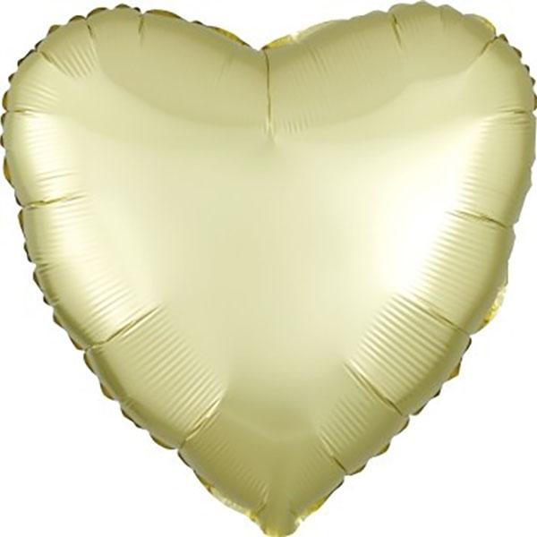 45cm Herz Satin Champagner Folienballon