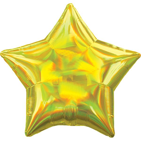 45cm Stern irisierend gold