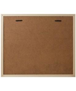 BILDERRAHMEN NEBRASKA 6 KLAMMER TEAKHOLZ&GRAU Plastik 42,4x49,4x3,3cm Rückseite