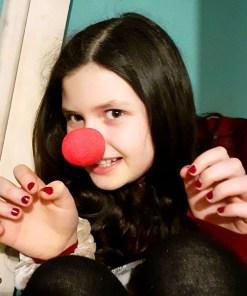 Clownsnase Beispielfoto mit Kind