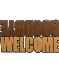 FUSSMATTE WELCOME&GOODBYE GUMMI 41X75CM Polyester