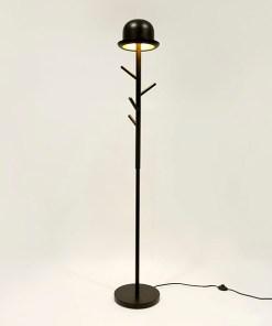 GARDEROBENSTÄNDER & STANDLEUCHTE CHAPEAU Metal 177x30x26cm leuchtend