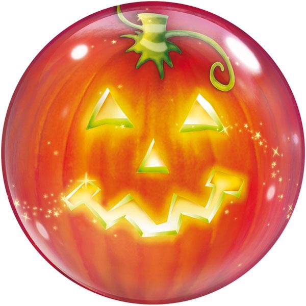 Halloween Kürbis Folienballon Bubble D56cm