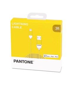 KABEL LIGHTNING USB 1M PANTONE GELB APPLE MFI, Nylon, 107,5cm Verpackung