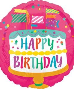 birthday-cake Folienballon 45cm
