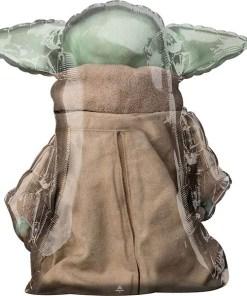 Baby Yoda, Star Wars - Der Mandalorianer, Folienballon, Figurenballon, 86cm, Rückseite
