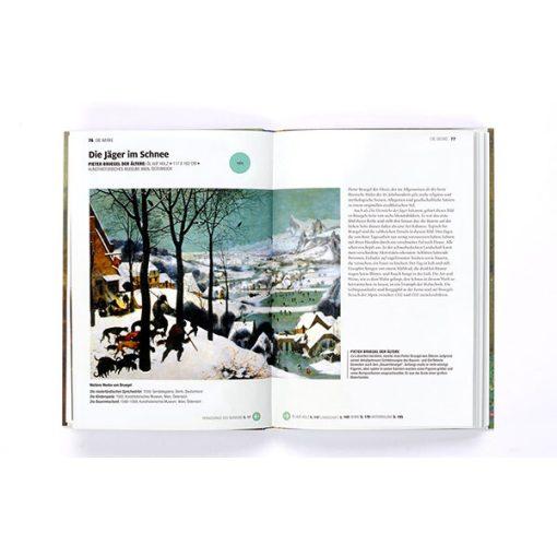 Eine kurze Geschichte der Kunst, Softcover mit Klappen, 224 Seiten, 148 x 210mm, aufgeklappt