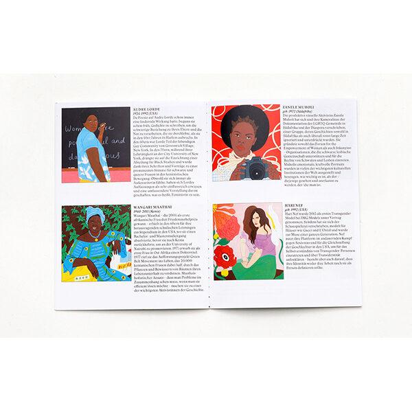 Feministinnen-Orakel, Lebenshilfe und Inspiration, 50Karten, 120x160x50mm Bookletdetails