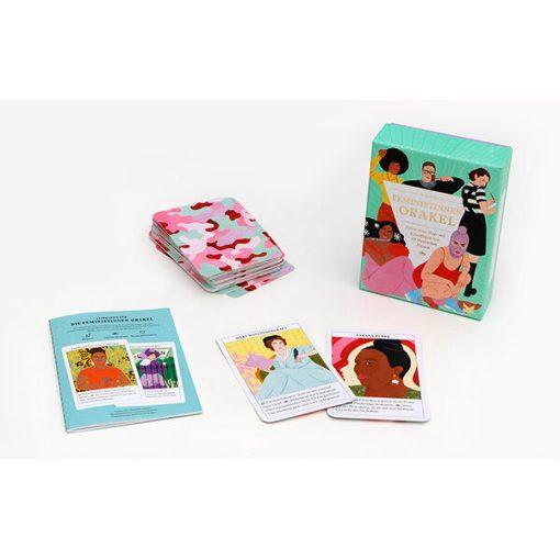 Feministinnen-Orakel, Lebenshilfe und Inspiration, 50Karten, 120x160x50mm Box und Karten