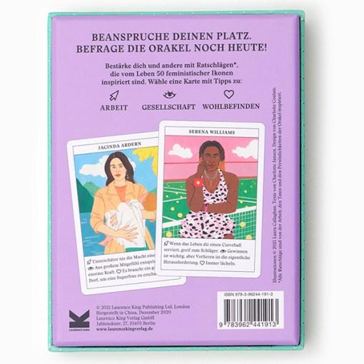 Feministinnen-Orakel, Lebenshilfe und Inspiration, 50Karten, 120x160x50mm Rückseite