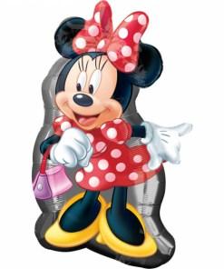 Minnie mit Tasche, Folienballon, 48x81cm