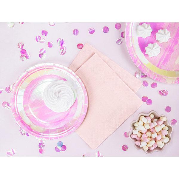 Servietten, hell puder-rosa, dreilagig, 20 Stk., 33 x 33 cm, Dekobeispiel 1