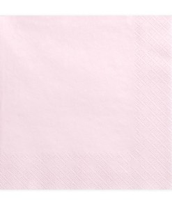 Servietten, hell puder-rosa, dreilagig, 20 Stk., 33 x 33 cm