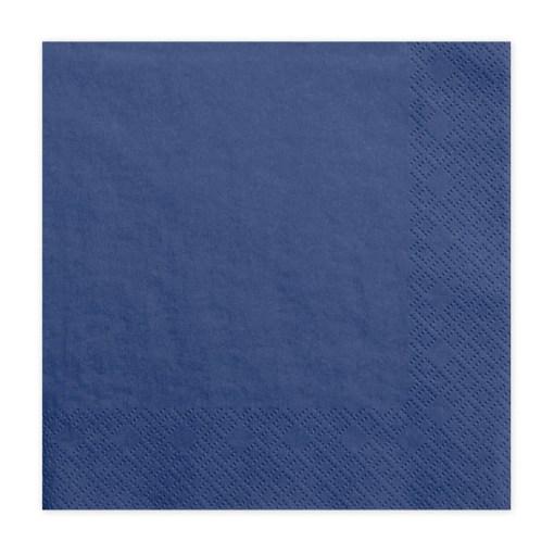 Servietten, königsblau, dreilagig, 20 Stk., 33 x 33 cm