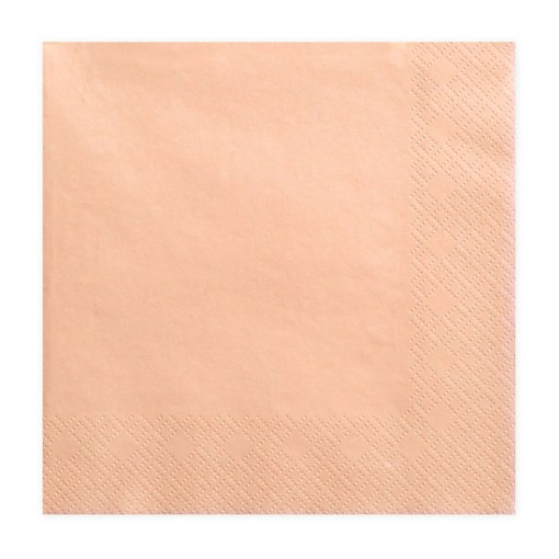 Servietten, lachsfarben, dreilagig, 20 Stk., 33 x 33 cm