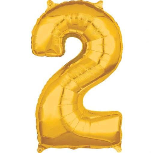 Zahl gold Folienballon 66 cm 2