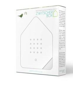 Zwitscherbox Weiß B 110 x H 145 x T 35mm Plexiglas Verpackung