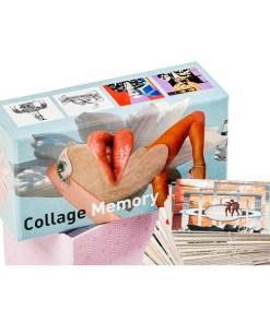Collage Memory Spiel, Box, 60 Karten, 145x75mm, Box und Karten 1