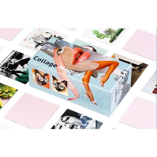 Collage Memory Spiel, Box, 60 Karten, 145x75mm, Box und Karten 3