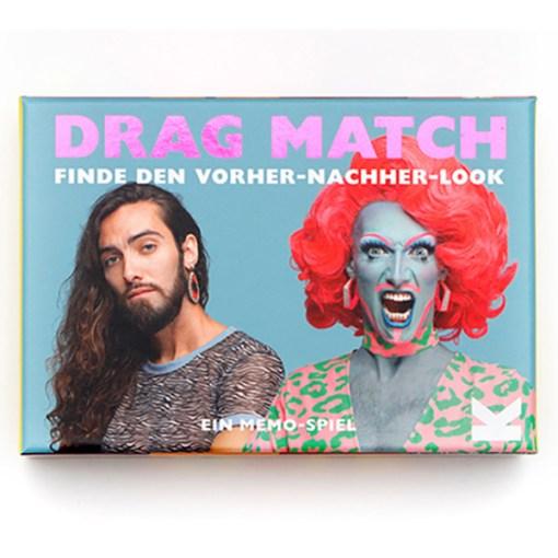 Drag Match, Finde den Vorher-Nachher-Look, Memo-Spiel, 40 Karten, 144x100x47mm, Cover