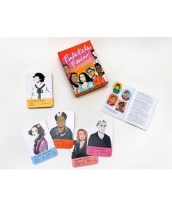 Fantastische Frauen, Kartenspiel, Box, 32 Karten, 119x158x40mm, Box, Booklet und Karten 1
