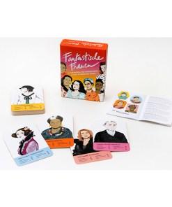 Fantastische Frauen, Kartenspiel, Box, 32 Karten, 119x158x40mm, Box, Booklet und Karten 3