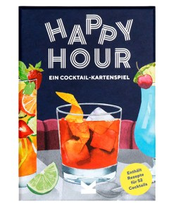 Happy Hour, Ein Cocktail-Spiel, Box, 52 Karten, 100x140x50mm, Cover