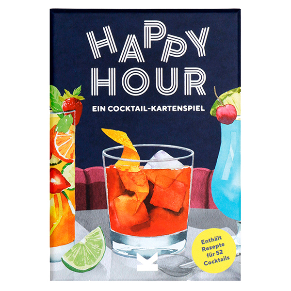 Happy Hour, Ein Cocktail-Spiel, Box, 52 Karten, 100x140x50mm, Cover