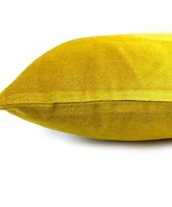 Kissen Shellia, mit Fuellung, senfgelb, Samt, 100Proz Baumwolle, 35 x 50 cm, Detail 1