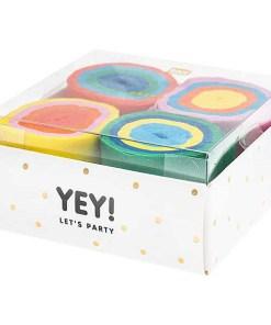Kreppbaender Packung Cake Mix, 3,5 CM X 10 M, 6 STK, verpackt