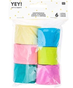 Kreppbaender Packung Fruehling Mix, 3,5 CM X 10 M, 6 STK, verpackt