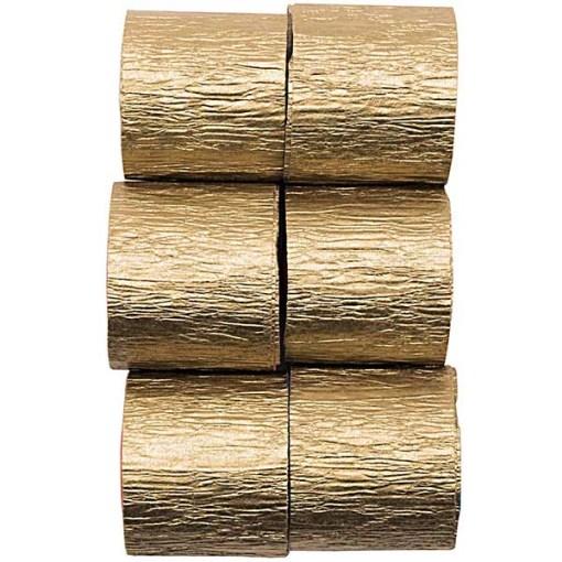 Kreppbaender Packung gold, 3,5 CM X 10 M, 6 STK