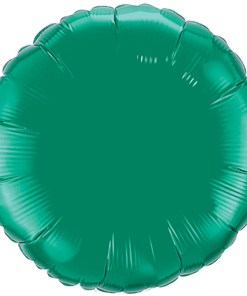 Rund 90cm metallic gruen Folienballon