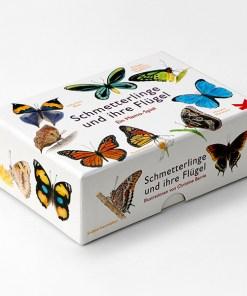 Schmetterlinge und ihre Fluegel, ein Memo-Spiel, Box, 50 Karten, 144x100x47mm, Box Seite