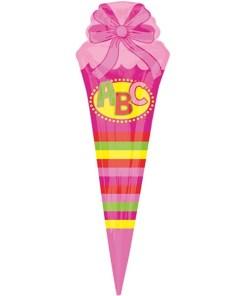 Schultuete Pink_Folienballon_h111cm