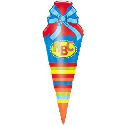 Schultuete blau_Folienballon_h111cm